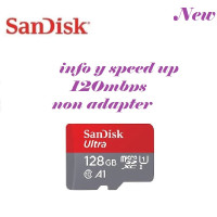 Micro SD Sandisk Ultra 128GB 100Mbps A1 MicroSDXC Original Merah Abu