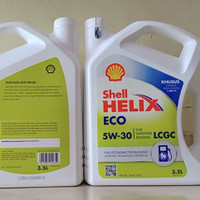 Oli mesin shell helix ECO 5W-30. 3,5liter