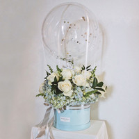 Flower Box Balon Bunga/ Hot Air Balloon Flower Box - Size M