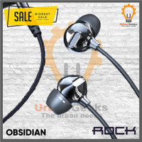 Headset Rock Zircon Original Earphone IEM Headset Stereo Bass