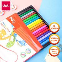 crayon deli 24 hands clean alat mewarnai anak