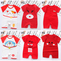 Jumper Romper Bayi 3 - 24 bulan Baby Jumpsuit Baju Anak Tema Merah