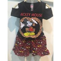 Chang Fashion Setelan MKY CHL Sabrina Anak Perempuan - Hitam, 2-3 tahun