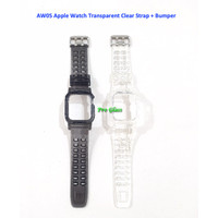 AW05 Apple Watch 42mm / 44mm Transparent Clear Strap with Bumper Case