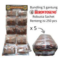 Bundling 5 gantung Kopi Berontoseno Robusta Sachet Renteng isi 250 pcs