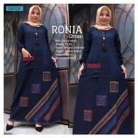 Gamis Jeans Ronia Size S M L XL / Dress / Baju Muslim / Pakaian Wanita