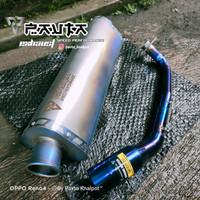 Knalpot Racing Pavta Xeron Blue Fullsystem Nmax Aerox Pcx Adv