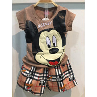 Chang Fashion Setelan Kepala MKY Celana Pendek Anak Perempuan