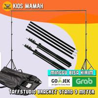 TaffStudio Bracket Stand 3m / Stand Backdrop Background 300x190 cm