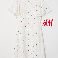 baju anak perempuan dan Dewasa H&M Putih Polkadot