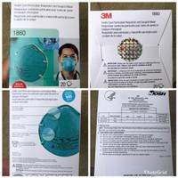 Masker 3M N95 1860 Original Holo USA 1Box Isi 20 Pcs