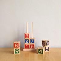 Mainan Edukatif / Edukasi Anak - Puzzle Balok Kayu - Menara Angka