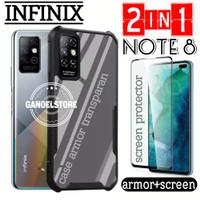 Case Infinix Note 8 Armor Transparan Free Pelindung Layar Full Cover