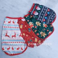 (B41) Baju Kostum Natal Anjing Kucing Hewan Pet Dog Christmas Costume - Merah, XS