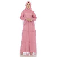Gamis Abaya Wanita Remaja Terbaru tille dot - Almia - Size M, L, XL -