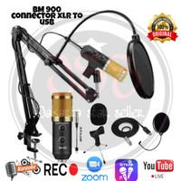 Microphone Condenser Bm 900 Stand arm Pop Filter