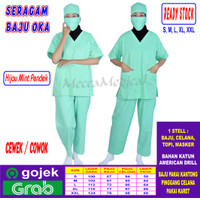 Baju OKA, Seragam Oka, Baju Jaga Cowok & Cewek Lengan Pendek READY
