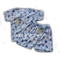 Setelan baju pendek bayi kancing depan Arini baby