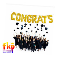 Paket Balon Foil Huruf CONGRATS / Congratulations / Graduation