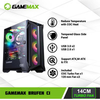 Gamemax Brufen C1 Cooling and Overcloking Gaming PC Case with PWM