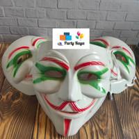 Topeng mata hijau/topeng alis merah/ topeng anonymous