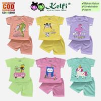 Setelan KELFI Baju Celana Bayi Anak Perempuan 6 Bulan 1-3 Tahun - Pony