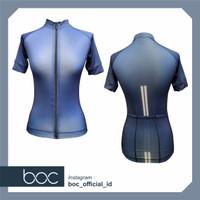 Baju Sepeda Cycling Jersey Cowok/Cewek/Unisex PRO BASE - NAVY BLUE