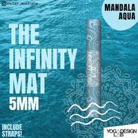 YOGA DESIGN LAB Infinity Yoga Mat 5.5mm FREE STRAP / MANDALA AQUA