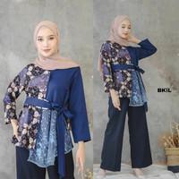 BLUS BATIK Modern Atasan Batik Wanita Muslim Baju Kondangan Simple