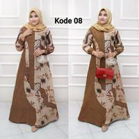 batik gamis lebaran Baju remaja batik longdress batik wanita terbaru 1