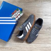 Sepatu Adidas Spezial Handball Grey Gum-abuabu sole coklat