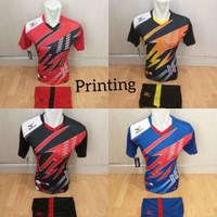 kaos olahraga Jersey bola baju setelan futsal seragam sepakbola NK 33 - hitam merah, M