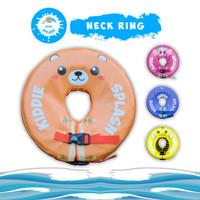 Neck Ring Bayi | Ban Leher Bayi | Pelampung Leher Bayi KIDDIE SPLASH - Orange Bear