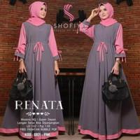 baju muslim renata gamis Jumbo LD 115-120 Dress jumbo Gamis cantik