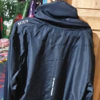 Atalon solid windbreaker jaket - Hitam,XL