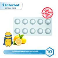 Interlac Probiotik Tablet Kunyah Lemon - 10 tablet