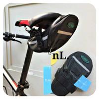 B-SOUL Tas Sepeda Waterproof Storage Sadel Seat CyclingTail Rear Black