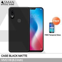 Ultraslim VIVO V9 (6.3) | Case Black Matte + FREE TG