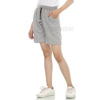 Celana Pendek Wanita Hot Pants Santai Polos Kaos Baby Terry Rib -BTR52