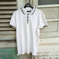 zara man twin tipped polo shirt original casual cdg fred perry