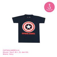 Baju Kaos Distro Anak Premium Captain America A 1-8 Tahun Shirton