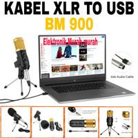 microphone mic condenser bm900 USB profesional recording Audio BM 900