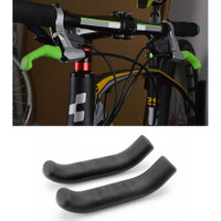 Silikon Cover Pelindung Handle Rem Tangan Sepeda 2 PCS Anti Slip - Hitam