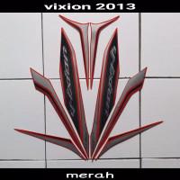 Striping sticker lis body yamaha new vixion lightning 2013 full merah