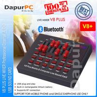 V8 Plus Soundcard Bluetooth Audio USB External Live Broadcast