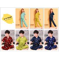 Baju Tidur Piyama Anak Laki Laki / Perempuan Usia 8-10 Tahun (Size 10)