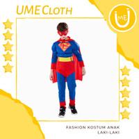 Kostum Superhero Fashion Anak Laki Baju Superman DC Comics - S
