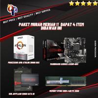 ATHLON 3000G + ASRock A320M-HDV + SSD 128GB SATA3 + MEMORY 4GB 2666