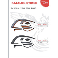 STIKER STRIPING BODY SCOOPY STYLISH 2017 - 001