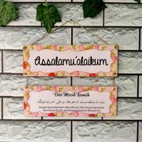 Hiasan pintu rumah Assalamualaikum 1 set - DM 09